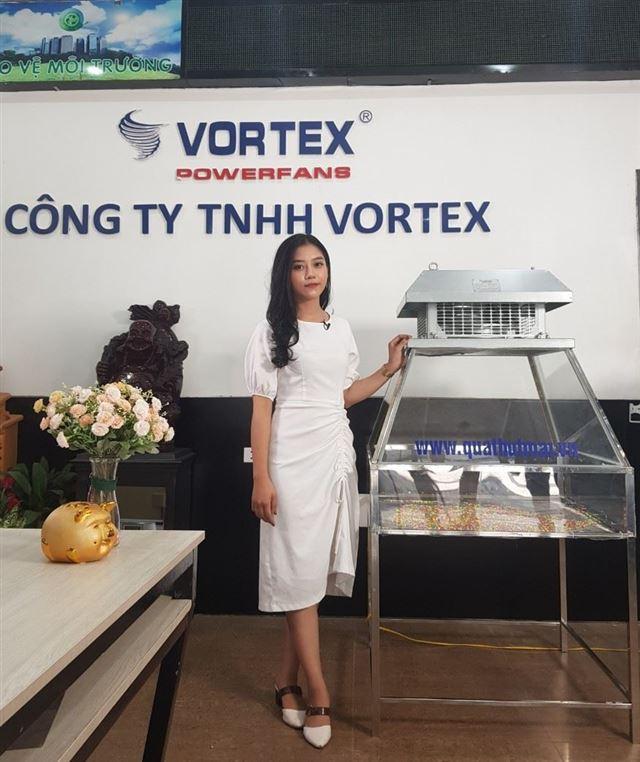 Quạt li tâm hút mái - giếng trời hiệu Vortex Model VF-315R